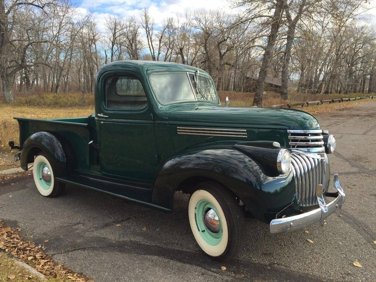 1946 Chevrolet Calgary, AB $24,995 | Old Chevy Pickups | Pinterest ...