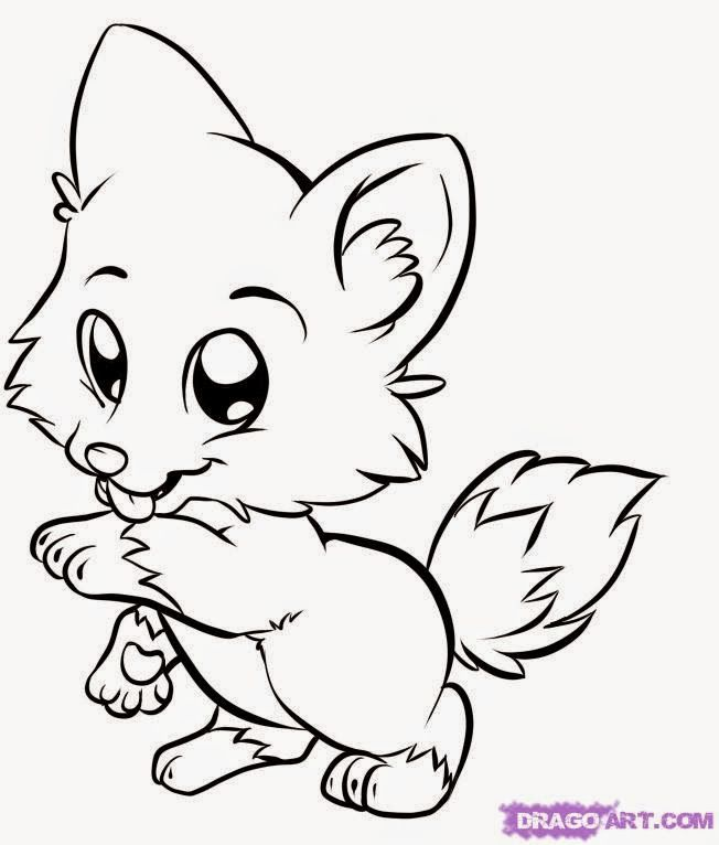 Coloring Pages Of Cute Animals Best Coloring Pages Puppy Coloring Pages Cartoon Coloring Pages Fox Coloring Page
