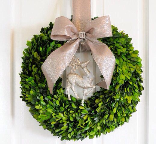 Preserved Boxwood Wreath Christmas Wreath by SomethingWhimdesigns, $68.00