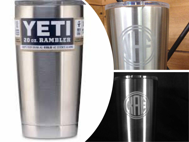 In stock Yeti Rambler 20 oz tumbler premium engraving (in