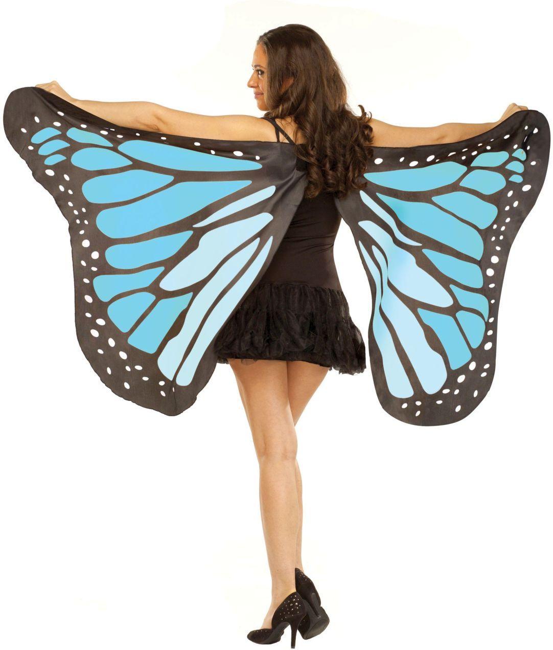 Soft Butterfly Wings Monarch Blue Yellow Purple Black Fancy Dress Girls Child