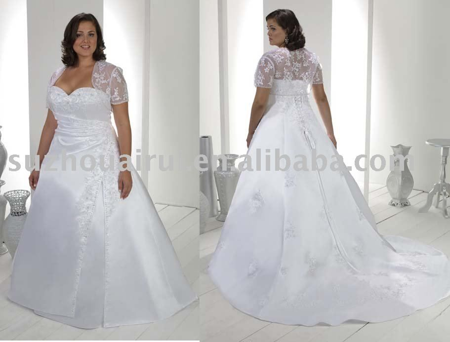 Full figured wedding dresses with sleeves google search for Wedding dresses for fuller figures