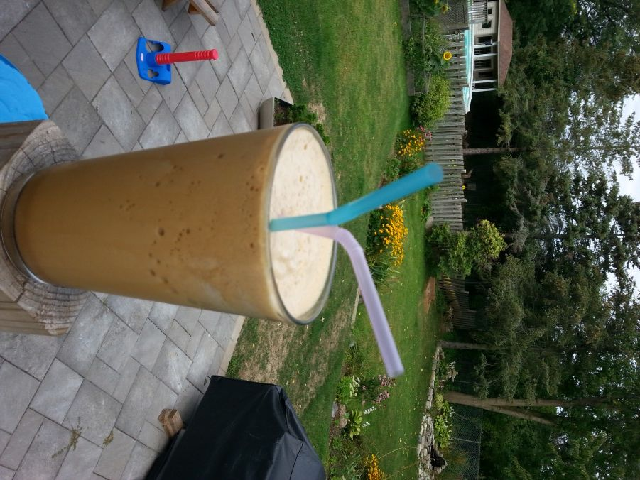 Homemade iced capp low carb low calorie version with