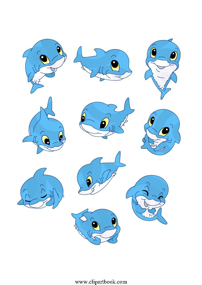 LE -sweet blue Baby Sharkfree vector clipart designs for ...