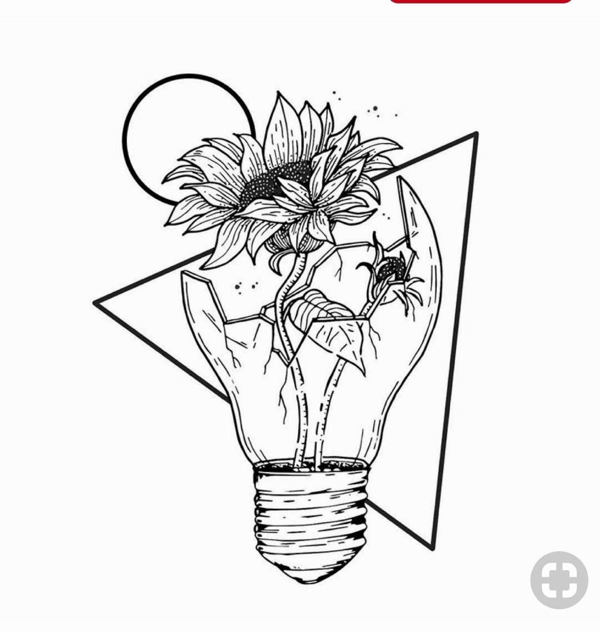 Coloring Outer Space Unique Aesthetic Space Tumblr Coloring Pages Kesho Wazo Easy Drawings Space In 2020 Sunflower Drawing Flower Drawing Easy Flower Drawings