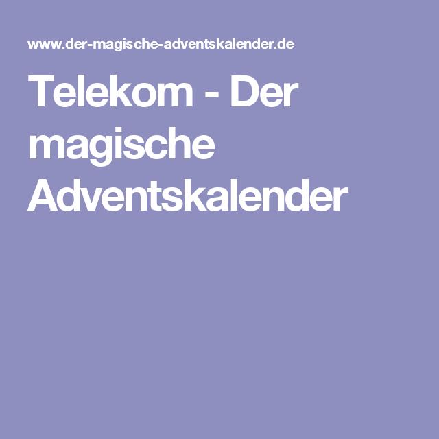 Telekom Weihnachtskalender.Telekom Der Magische Adventskalender Sonstiges