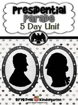 Presidents Parade (5-day Thematic Unit)Includes Patterns and Printables  [36 pages]In this unit, we study all about Presidents as we learning about George Washington and Abe Lincolns Birthday. We do activities with the color Purple and have fun with I want to be PresidentDay 1: Gee George!Day 2: Presidents Day  Day 3: Color: PurpleDay 4: All About AbeDay 5: I Want To Be PresidentThe desire to learn is the key to every childs success.