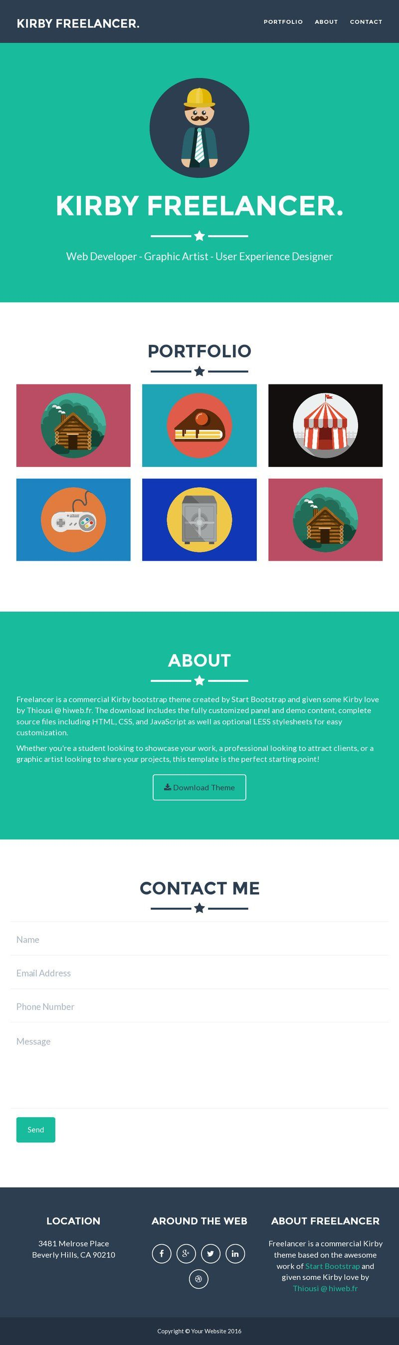 FREELANCER. theme for Kirby 2.3 Best landing pages, Web
