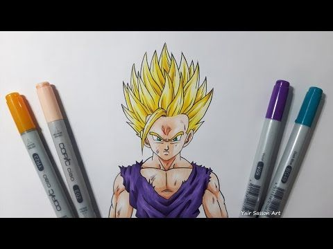 Drawing gohan super saiyan 2 ssj2 youtube