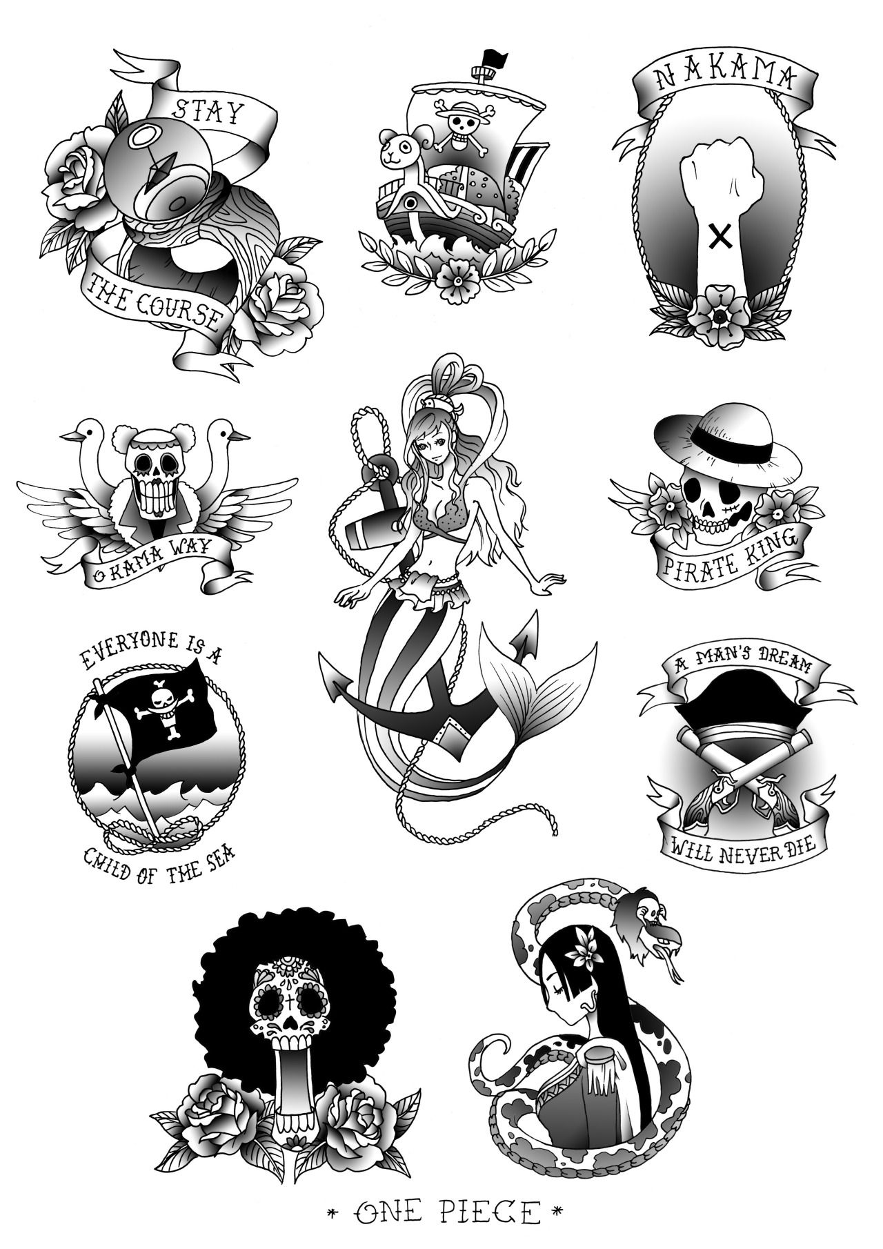 One Piece Tattoo Ideas