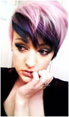 Crazy Colors For Short Hair Stylish Hair Colors Short Hair Color Short Hair Styles