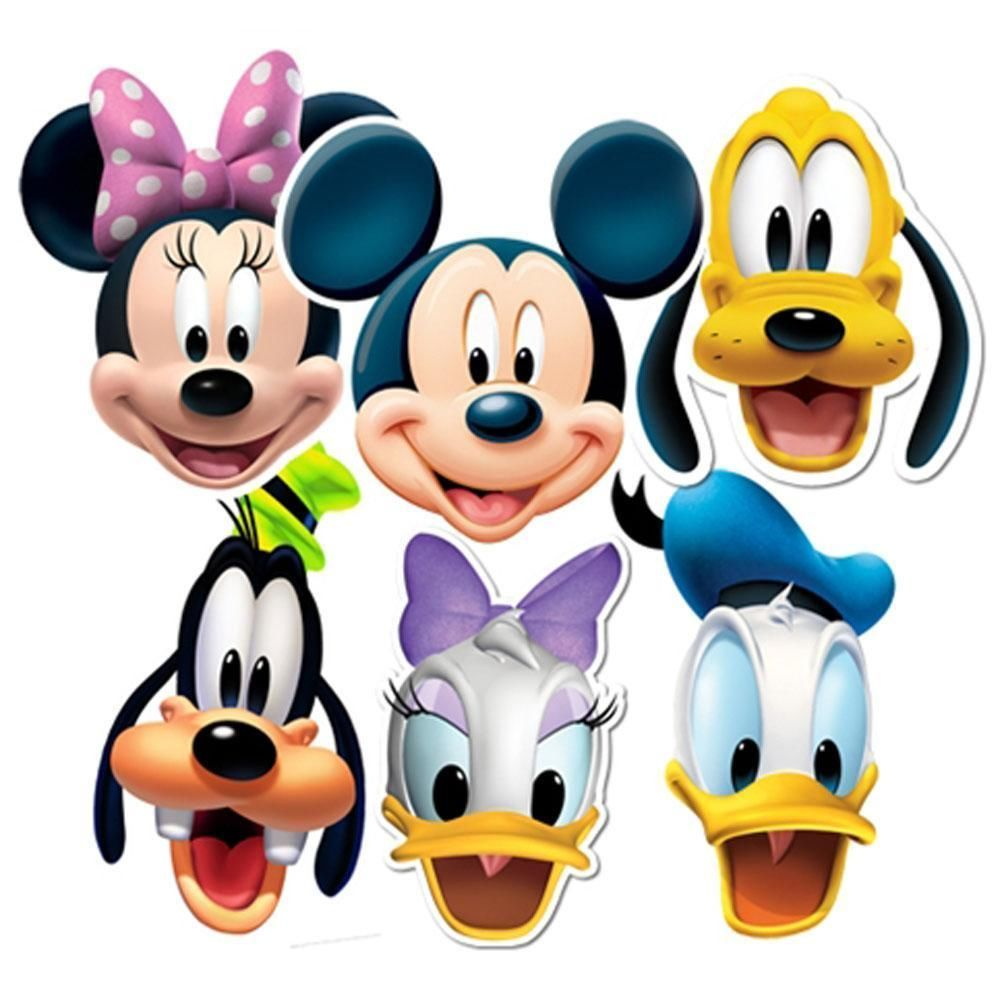 Mickey Mouse Clubhouse Characters Faces Clipart Panda Free
