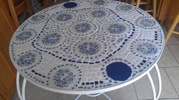 My first broken china mosaic project.