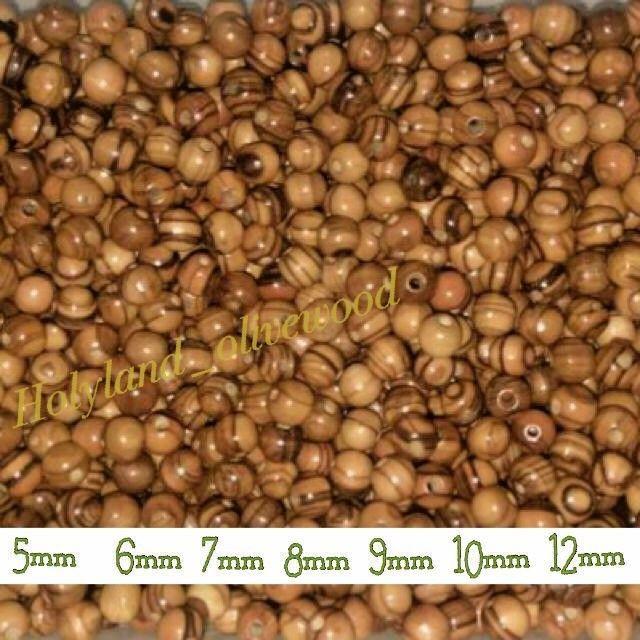 Details about Olive Wood Round Beads Polished Rosary Jewelry Holy land Bethlehem Jerusalem #rosaryjewelry