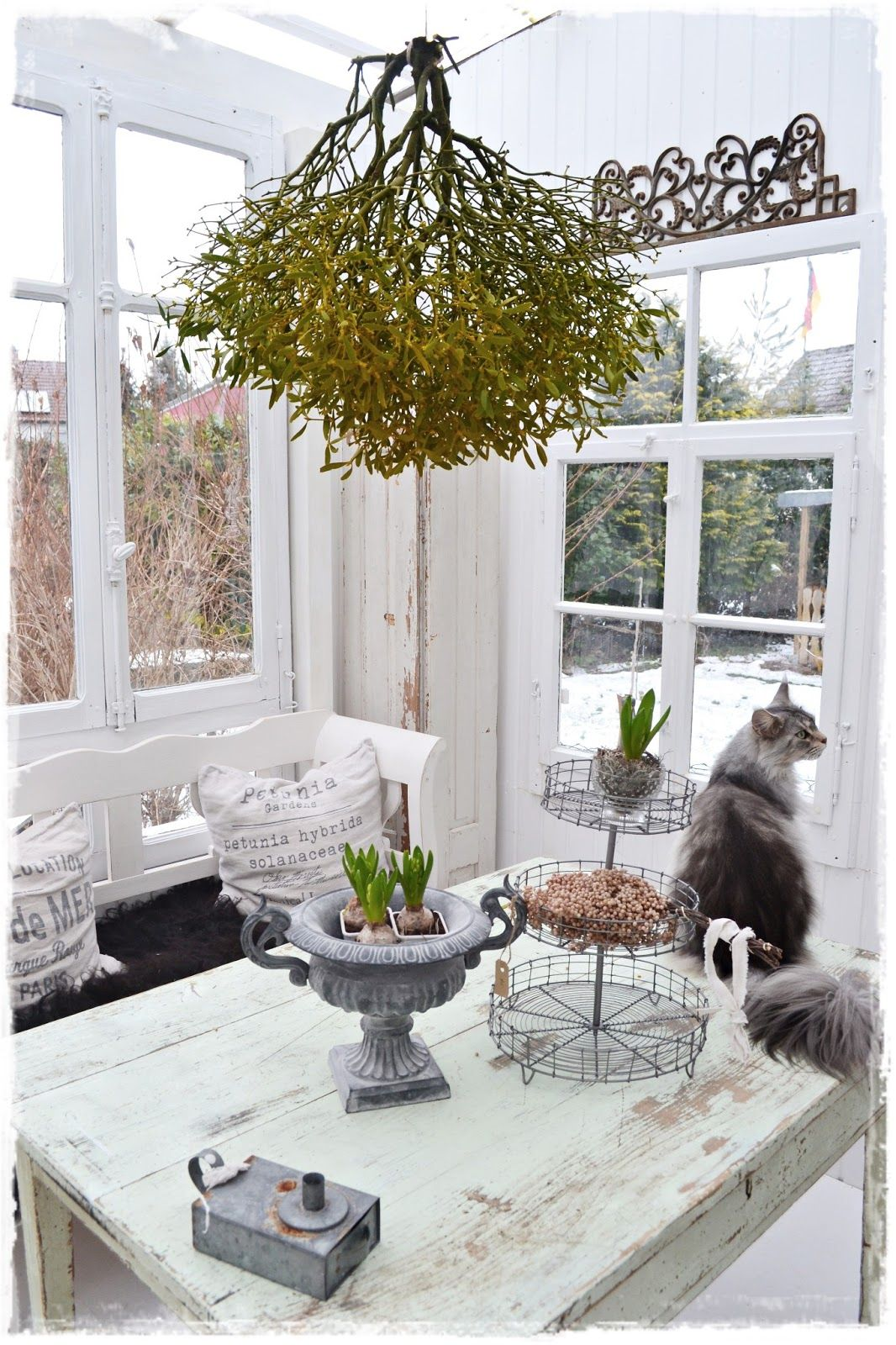 Wintergarten Einrichten Tipps Shabby Chic Without The Cat 1 Pinterest
