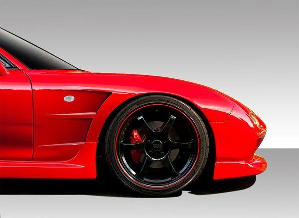 Duraflex 93 97 Mazda Rx 7 B Sport 25mm Front Fenders Kit Mazda Rx7 Mazda Fender Flares