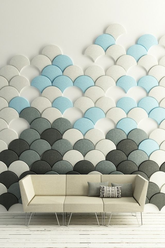 These Scale Shaped Tiles Will Soundproof Your Room With Style Acoustic Wall Panels Modular Walls Wall Design