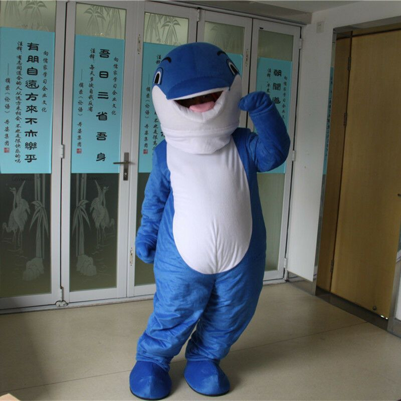 5e2d814d eBay #Sponsored Dolphin Mascot Costume Face Show Adult Cartoon ...
