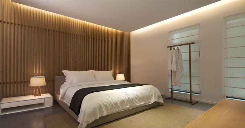 Bedroom Wall Design Idea - Create A Wood Slat Accent Wall Wood - holzverkleidung innen modern
