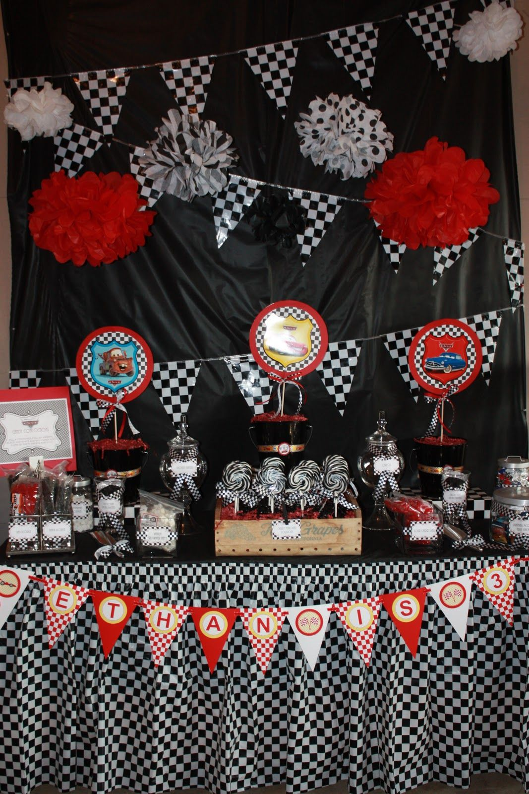 Cars 2 Party Candy Table