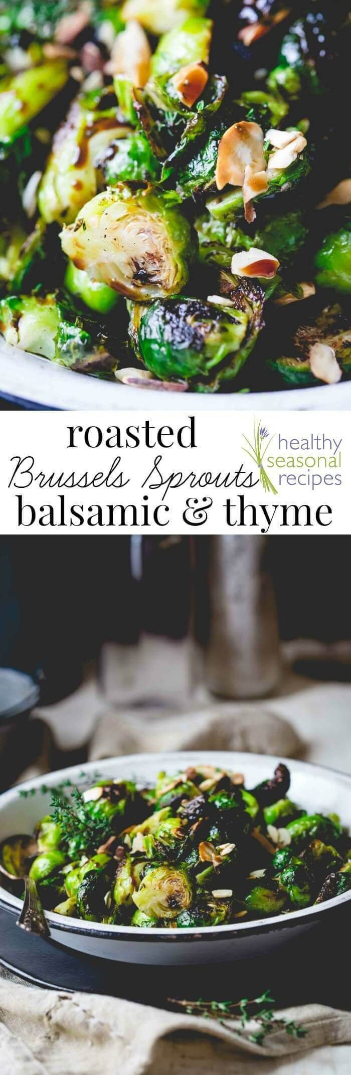 roasted brussels sprouts with balsamic and thyme www.healthyseason...  - Low carb -