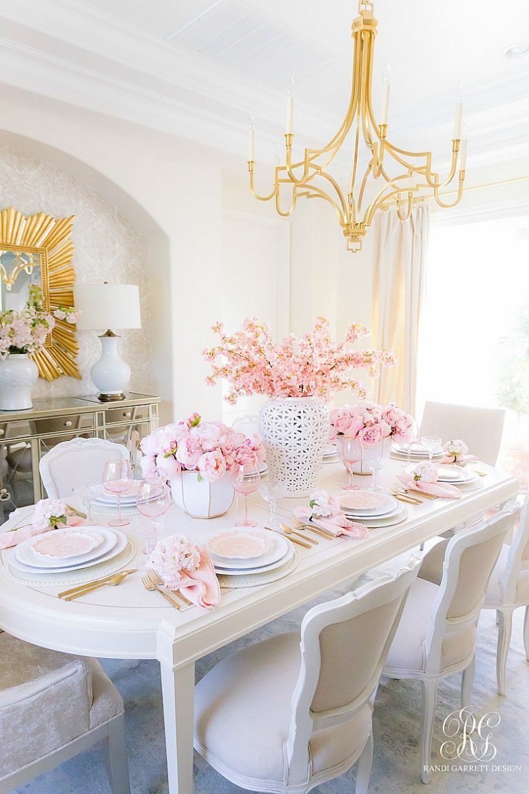 Pink Peony Easter Table - Randi Garrett Design