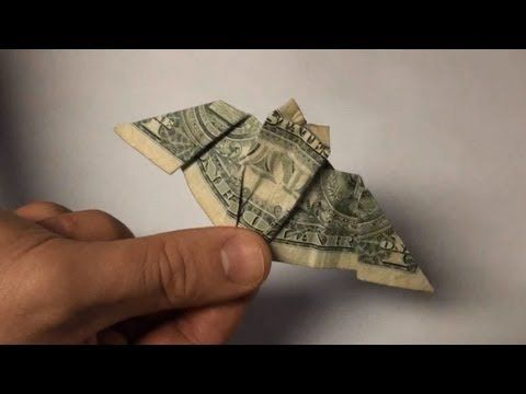 Origami Bat Dollar Bill Paper Folding Halloween Bats Tutorial