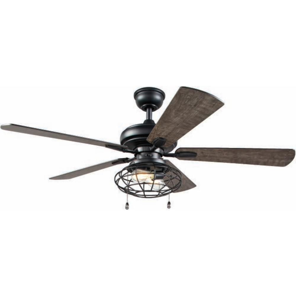 Home Decorators Collection Ellard 52 In Led Matte Black Indoor Ceiling Fan With Lights Yg629a Mbk Ceiling Fan With Light Black Ceiling Fan Fan Light