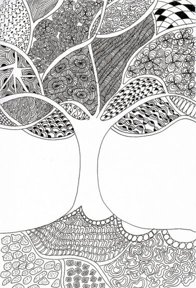 Zentangle Patterns Desenhos De Linha Arte Fixa E Flowers Draw