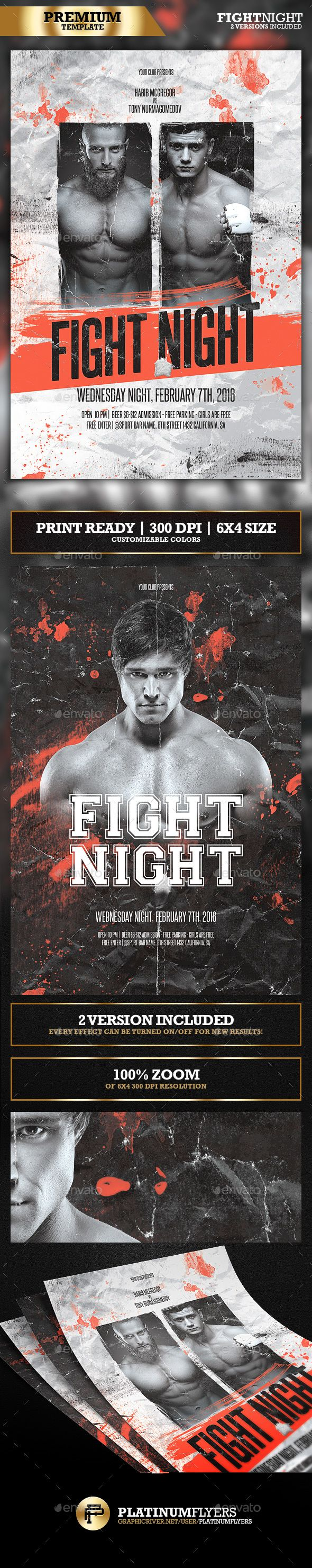 Mma  Fight Night  Boxing Fight Flyer  Ufc  Boxing Fight Fight