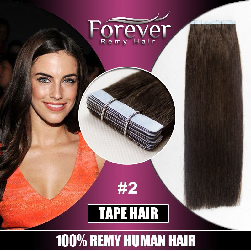 Large Stock Top Quality Virgin Hair Tap Hair Extension Natural Pu