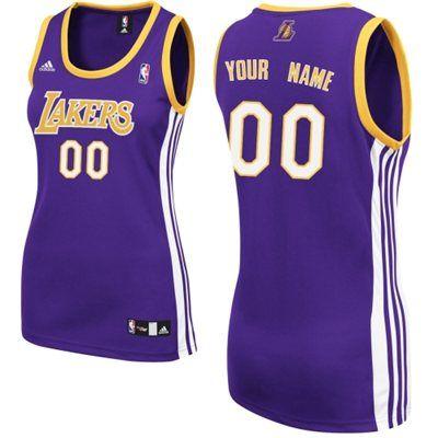 LA Lakers Women s Custom Replica Road Jersey  3213eb37d
