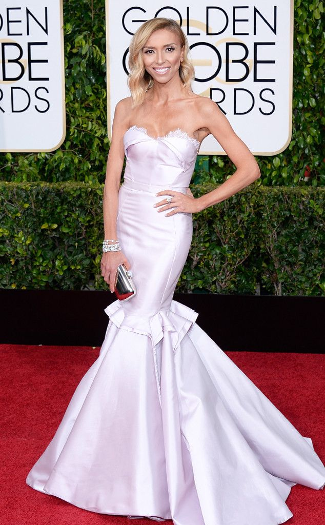 Giuliana Rancic dons Maria Lucia Hohan for the 2015 Golden Globes. So fab!