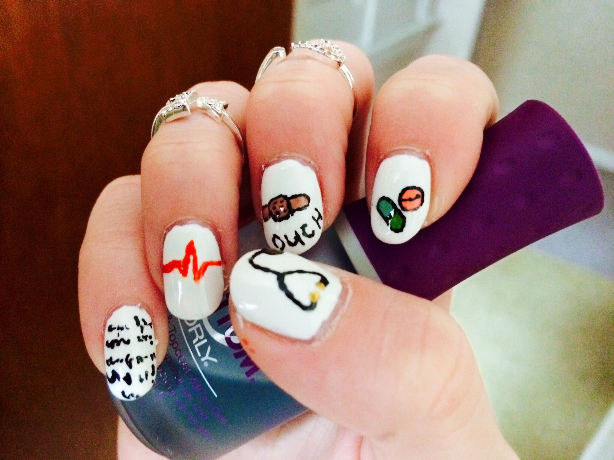 How to Create Medical Field Inspired Nails | Beauty | Pinterest
