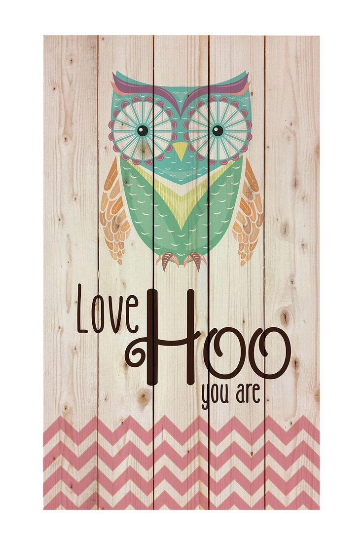 Love Hoo You Are Pallet Pine Wood Art by P. Graham Dunn on @HauteLook