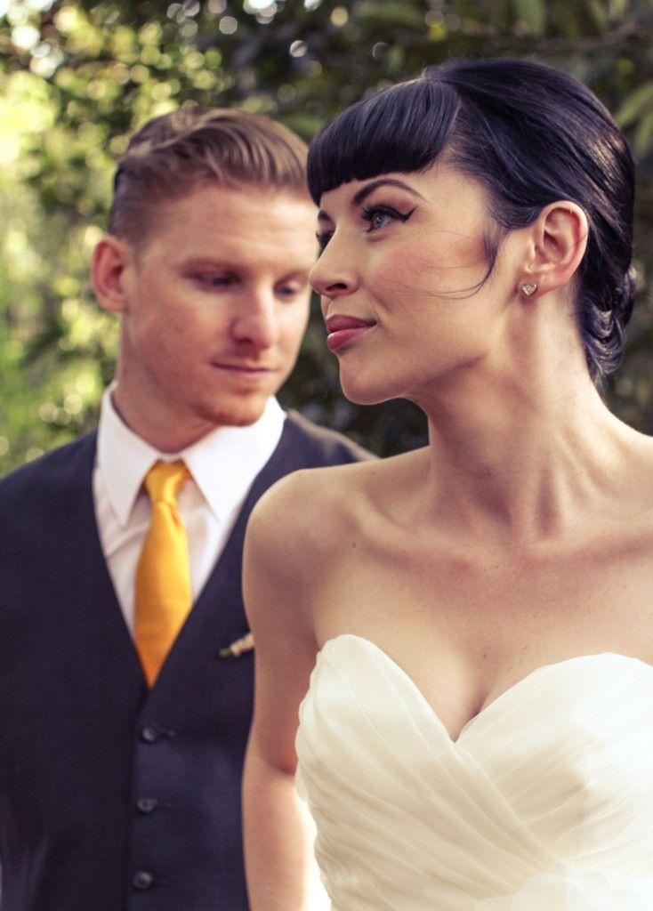 perfect wedding day makeup and hair! #pinup #wedding #makeup #updo #bangs www.betsycrocker.com #dental #poker