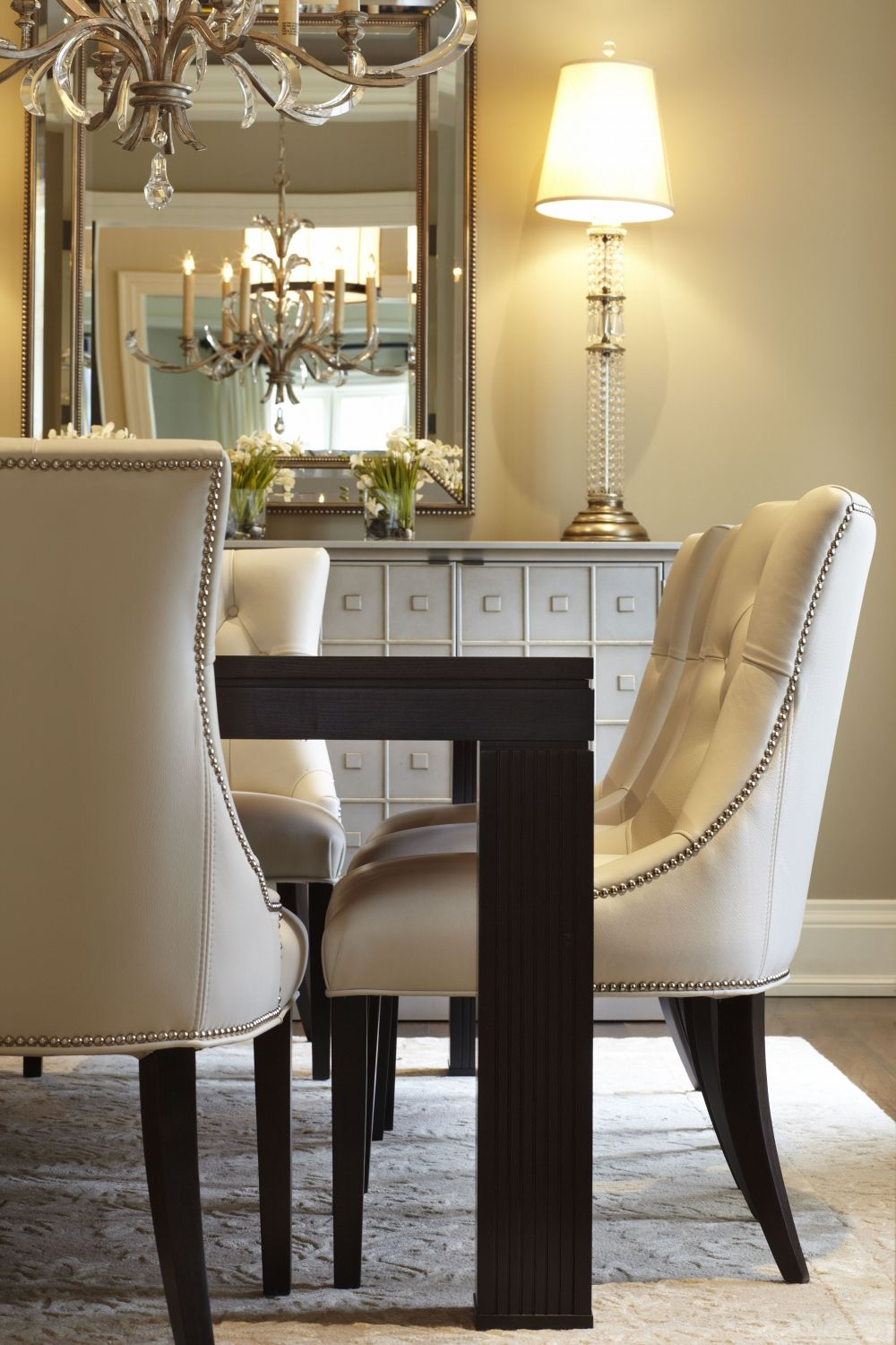 A Transitional Style Great Room By Parkyn Design Www Parkyndesign Com: Transitional Style Dining Room, Dining Room Table Set, Interior Design