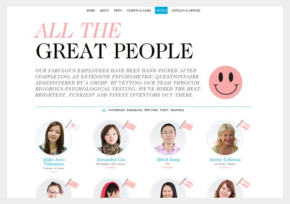 Inspiring Designs Meet The Team About Us Pages Creative Web Design Inspirations About Us Page Creative Web Design Psychological Testing