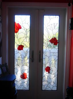 Stained glass door installg 254346 stained glass stained glass door planetlyrics Image collections
