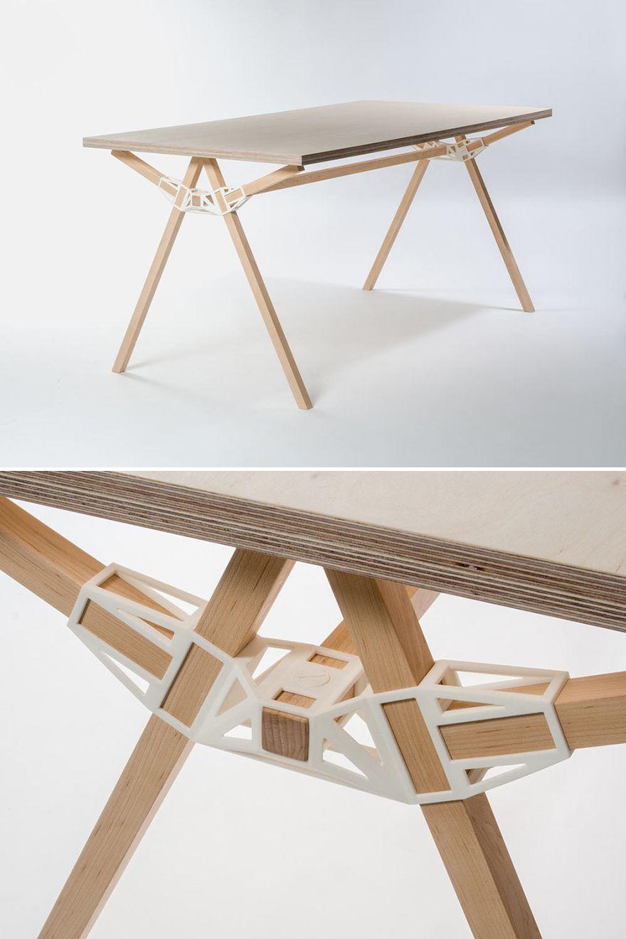 superbe concept d'impression 3d + bois = une table design et