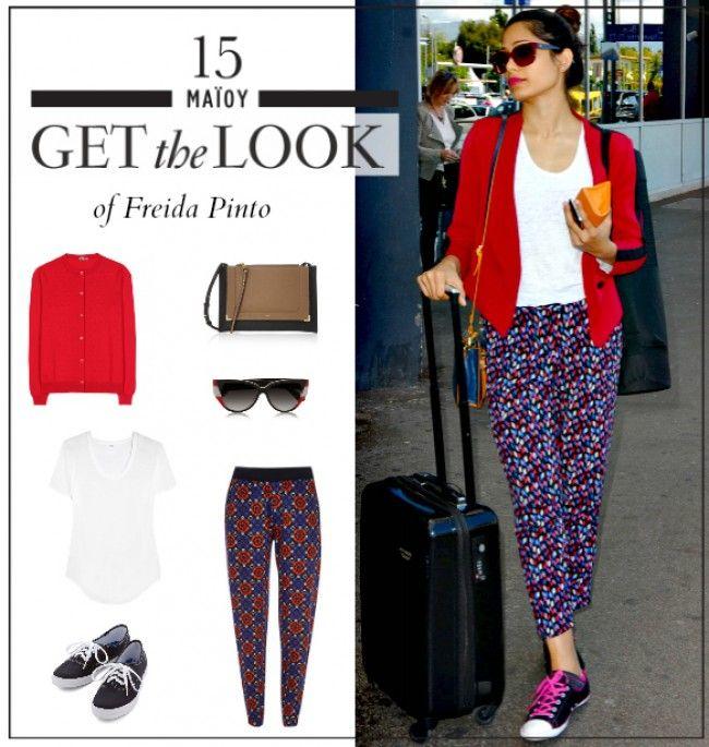 Get the look: Το χρωματιστό casual look της Freida Pinto