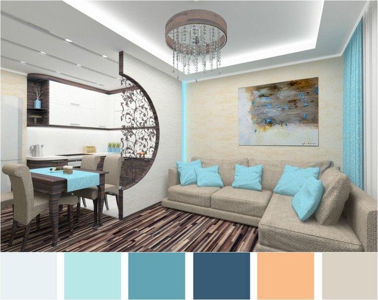Wohnzimmer in Türkis einrichten – 26 Wohnideen und ...