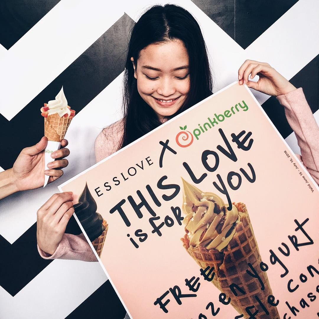 ESSLOVE X PINKBERRY Get free Pinkberry Waffle Cone with every purchase of 1200 Baht from Esslove, from June 15 - July 3, 2016  @esslovestore @pinkberrythailand @zenmegastore ‪#‎Esslove‬ ‪#‎ZEN‬ ‪#‎CentralWorld‬
