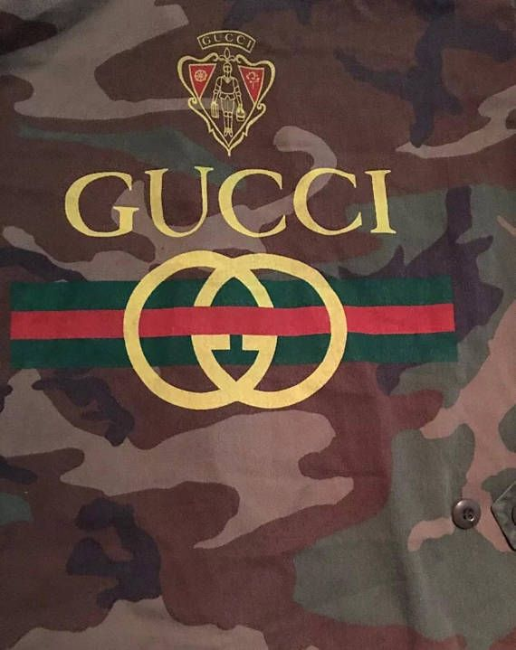 1f6ac555d VINTAGE One of a kind GUCCI 80s-90s bootleg camo jacket - size S ...