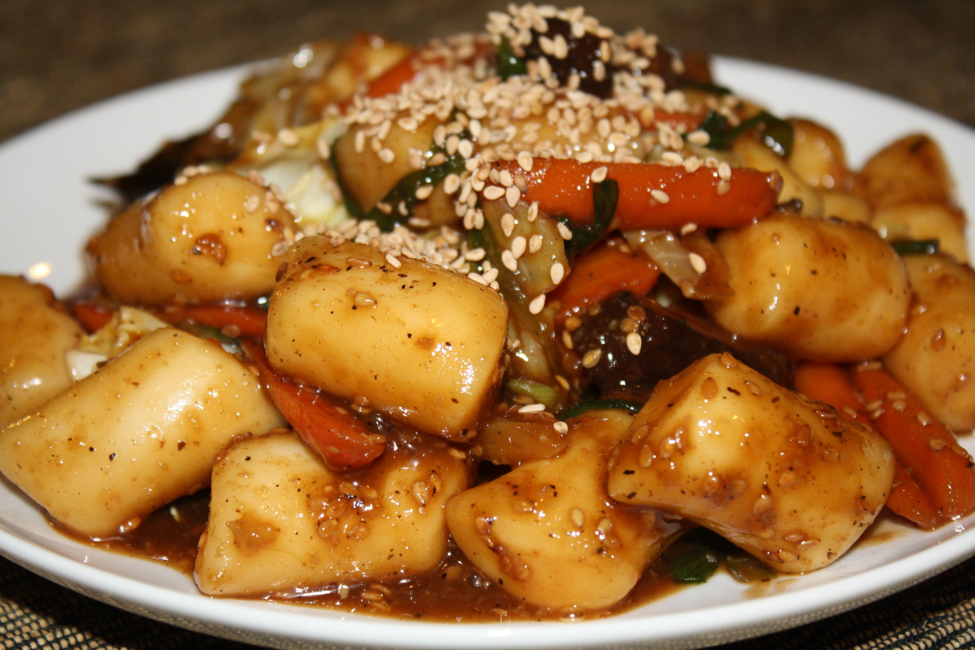 Vegan goongjung ddeokbokki palace ddeokbokki soy sauce rice cake palace ddeokbokki vegan korean foodkorean food recipesvegan forumfinder Image collections