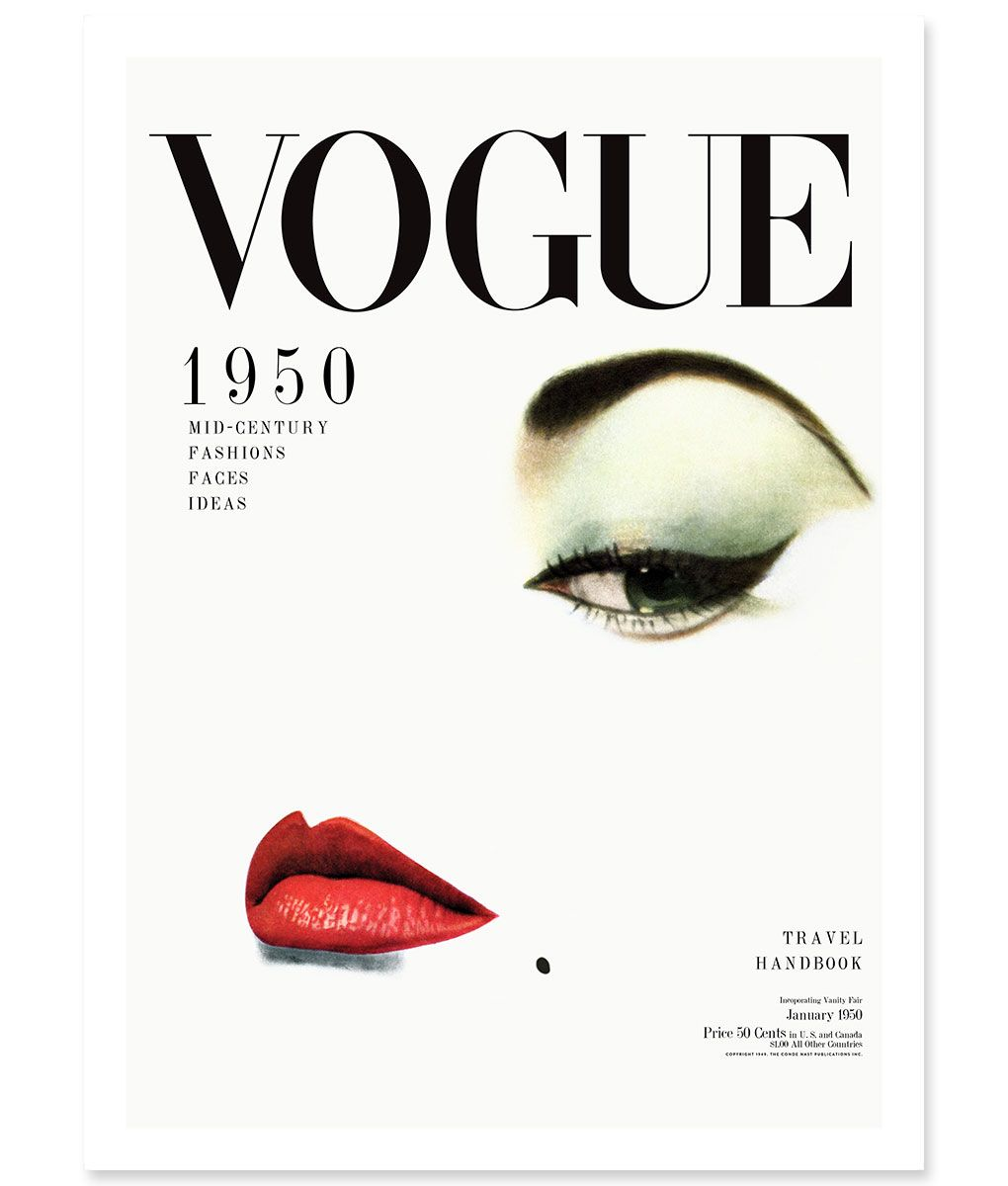 1950 S Vogue Cover Wall Art Poster Or Framed Print 41 Orchard Vogue Covers Vogue Covers Art Vogue