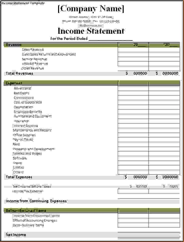 Click On The Download Button To Get This Income Statement Template