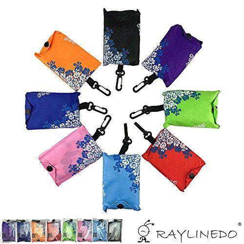 raylinedo expandable blue and white shopping bag reusable