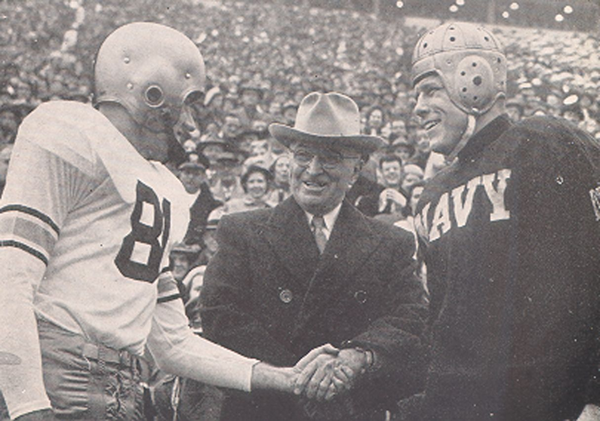President Truman at the 1950 Army Navy Game (With images) | Navy ...