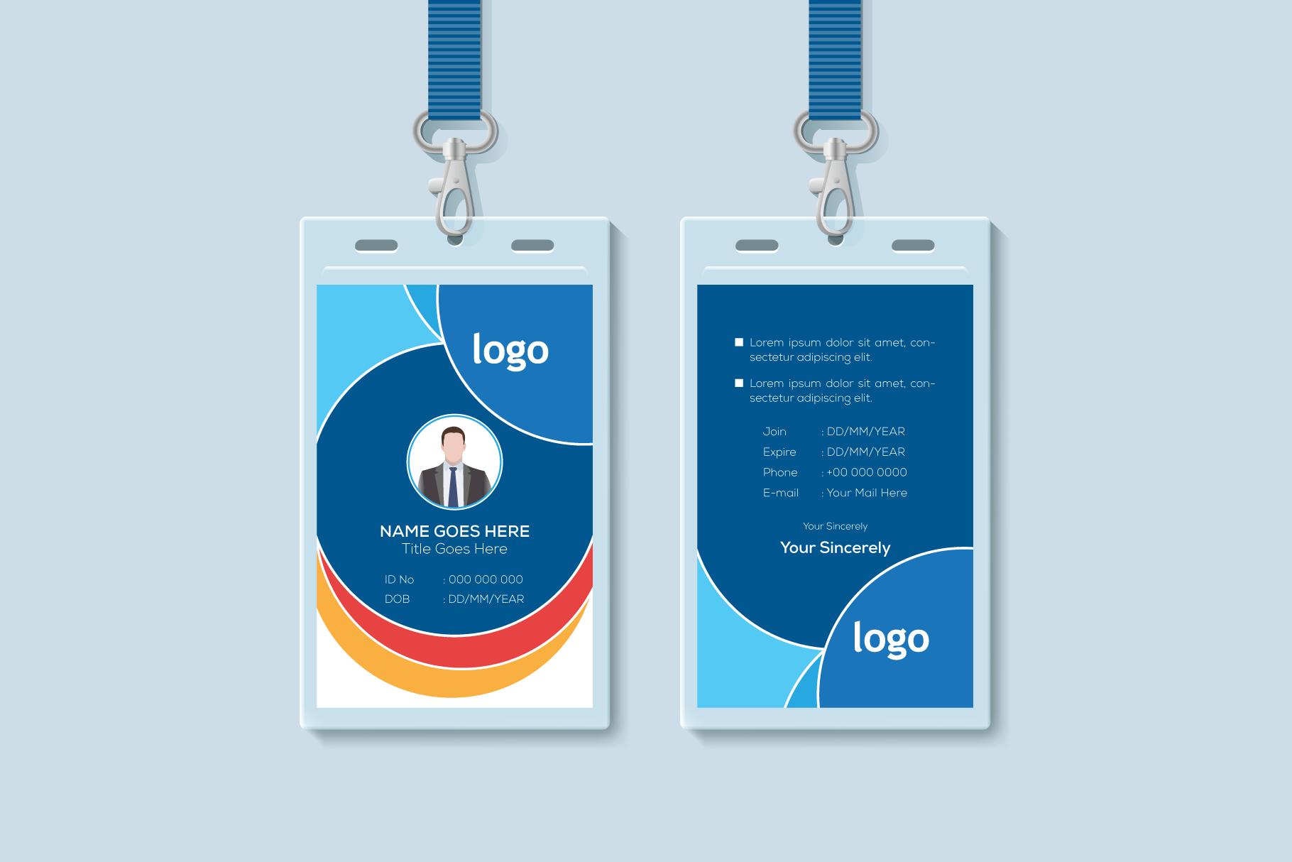 Id Card Template Graphic By Ju Design Creative Fabrica Id Card Template Corporate Id Card Template